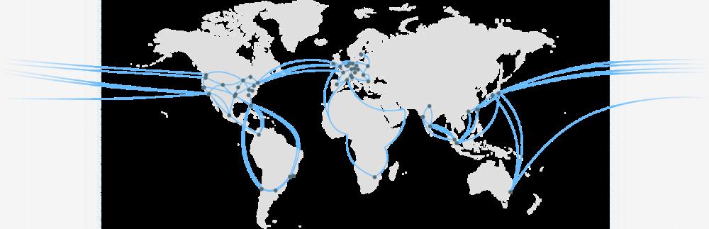 Google Cloud CDN network map