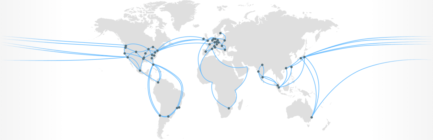Google Cloud network & CDN map