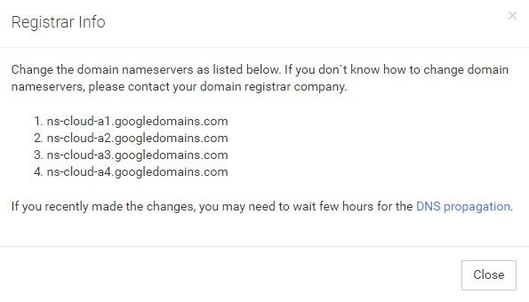 Domain nameservers